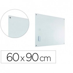 Quadro cristal planning sisplamo moldura magnetica com suporte para apagador e 5 imans 60x90 cm