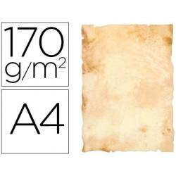 Papel pergaminho liderpapel din a4 papiros con bordes 170 gr pack de 8 folhas