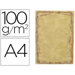 Papel pergaminho liderpapel din a4 orla 100 gr pack de 12 folhas