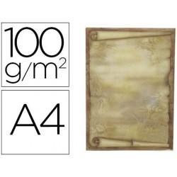 Papel pergaminho liderpapel din a4 diploma 100 gr pack de 12 folhas