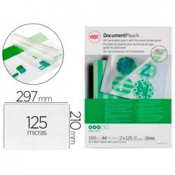 Bolsa de plastificar gbc din a4 125 microns acabamento brilhante caixa de 100 unidades