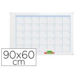 Planning magnetico nobo anual moldura metalico 90x60 cm