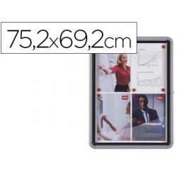 Vitrina de anuncios nobo mural magnetica de exterior din a4 con puerta y marco con cerradura de aluminio 69