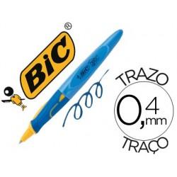 Boligrafo bic kids bp twist niño tinta aceite color azul punta de 1 mm color cuerpo azul