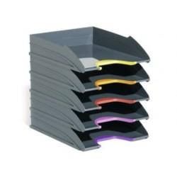 Tabuleiro de secretaria durable plastico cinza 255x55x330 mm pack de 5 unidades