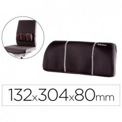 Apoio lombar fellowes portatil com bolso extraivel tecido na cor preta 132x304x80 mm