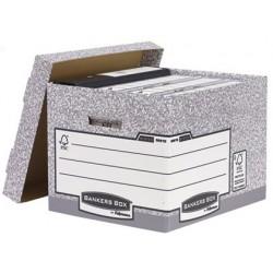 Caixa para arquivo definitivo fellowes em cartao reciclado capacidade 4 caixas de arquivo formato din a4 333x292x404 mm
