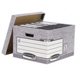 Caixa para arquivo definitivo fellowes em cartao reciclado capacidade 4 caixas de arquivo formato folio 387x294x445 mm c