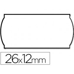 Etiquetas meto onduladas 26 x 12 mm branca ade. 1 removivel rolo de 1500 etiquetas em forma de (p+t) para etiquetadora t