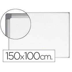 Quadro branco bi-office earth-it magnetico de aco vitrificado moldura de aluminio 100 x 150 cm com bandeja para acessori