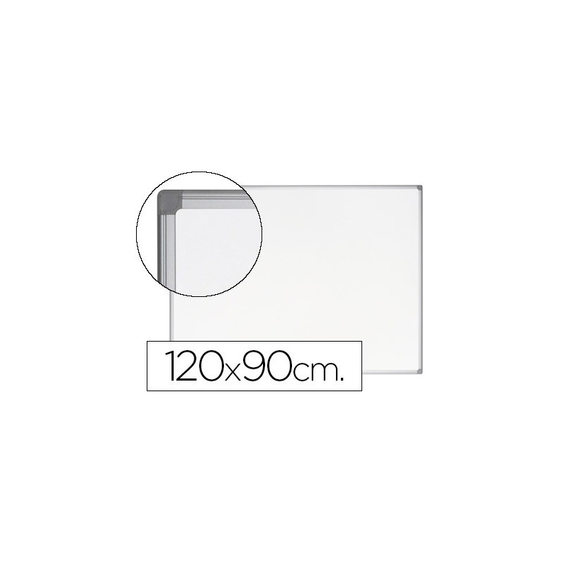Quadro branco bi-office earth-it magnetico de aco vitrificado moldura de aluminio 120 x 90 cm com bandeja para acessorio