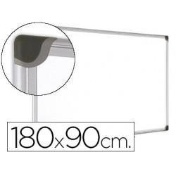 Quadro branco bi-office magnetica maya w ceramica vitrificada moldura de aluminio 180 x 90 cm com bandeja para acessorio