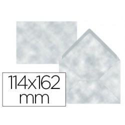 Envelope liderpapel c6 azul pergaminho 114x162 mm 80 gr pack de 15 unidades
