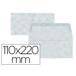 Envelope liderpapel americano azul pergaminho 110x220 mm 80 gr pack de 9 unidades