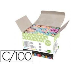 Giz corido anti pó liderpapel caixa 100 unidades cores sortidas