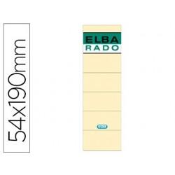 Etiquetas adesivas elba lomera cor osso 54 x 190 mm pack de 10 unidades