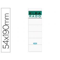 Etiquetas adesivas elba lomera cor branco 54 x 190 mm pack de 10 unidades