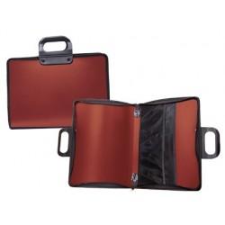Bolsa porta documentos liderpapel vermelha com asa e fecho 400x45x375 mm