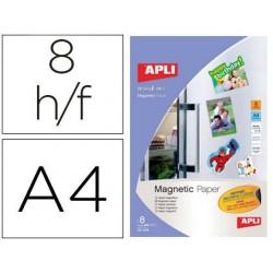Papel magnetico apli branco din a4 para impressoras tinteiro pack de 8 folhas