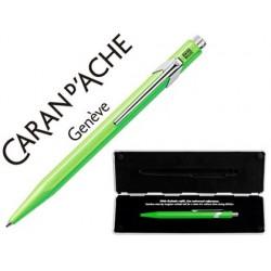 Esferográfica caran d'ache 849 pop line verde fluo com estojo ponta media
