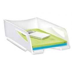 Tabuleiro de secretaria cep maxi de grande capacidade 386x270x115 mm plastico branco