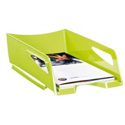 Tabuleiro de secretaria cep maxi de grande capacidade 386x270x115 mm plastico verde