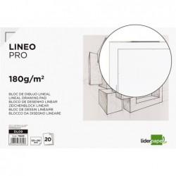 Bloco de desenho liderpapel lineal colado 230x325mm 20 folhas 180 gr com esquadria