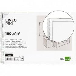 Bloco de desenho liderpapel lineal espiral 230x325mm 20 folhas 180 gr com esquadria