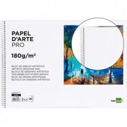 Bloco de desenho liderpapel artistico espiral 460x325mm 20 folhas 180 gr sem esquadria