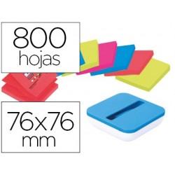 Suporte bloco de notas adesivas post-it super sticky z notes cor azul val com 8 bloco 76x76 mm