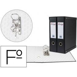 Modulo de 2 pastas de arquivo pardo folio 2 aneis de 70 mm preto 350x180x300 mm