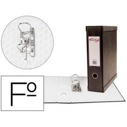 Modulo de 1 pasta de arquivo pardo folio 2 aneis de 70 mm preto 350x100x290 mm