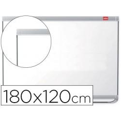 Quadro branco nobo prestige magnetico lacado moldura aluminio 1800x1200 mm