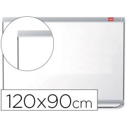 Quadro branco nobo prestige magnetico lacado moldura aluminio 1200x900 mm