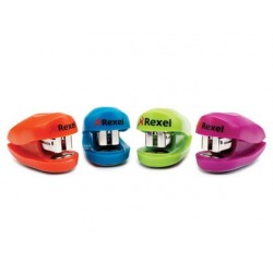 Agrafador rexel buddy + caixa de agrafes capacidade 10 folhas cores sortidas