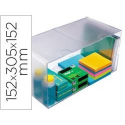 Cubo de arquivo archivo 2000 orificio duplo em poliestileno transparente 152x305x152 mm