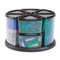 Organizador secretaria plastico transparente archivo 2000 com 9 compartimentos em forma triangular base giratoria 283x28