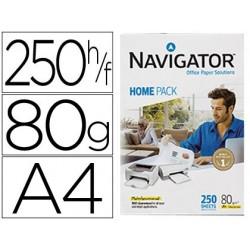 Papel fotocopia navigator home pack din a4 80 gr pack de 250 folhas