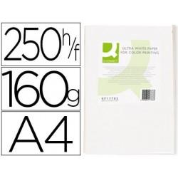 Papel fotocopia ultra white q-connect din a4 160 gr pack de 250 folhas