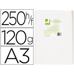 Papel fotocopia ultra white q-connect din a3 120 gr pack de 250 folhas
