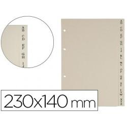 Separador pardo de plastico indice para porta cartoes formato quarto