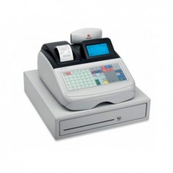 Registadora olivetti ecr 8220 profissional display lcd grafica teclado plano 99 departamentos funçao especifica restaura