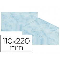 Envelopes fantasia marmoreados azul 110x220 mm 90 gr pack de 25 unidades