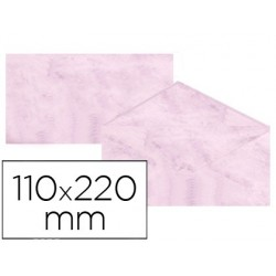 Envelopes fantasia marmoreados rosa 110x220 mm 90 gr pack de 25 unidades