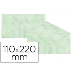 Envelopes fantasia marmoreados verde 110x220 mm 90 gr pack de 25 unidades
