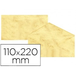 Envelopes fantasia marmoreados amarelo 110x220 mm 90 gr pack de 25 unidades