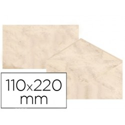 Envelopes fantasia marmoreados beige 110x220 mm 90 gr pack de 25 unidades