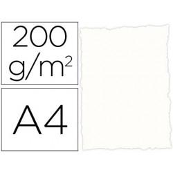 Papel pergaminho din a4 troquelado 200 gr cor rustico branco pack de 25 folhas