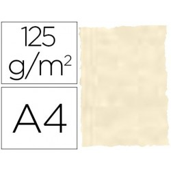 Papel pergaminho din a4 troquelado 125 gr pele elefante cor osso pack de 25 folhas