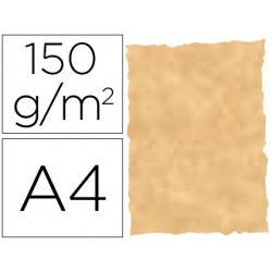 Papel pergaminho din a4 troquelado 150 gr cor parchment ocre pack de 25 folhas